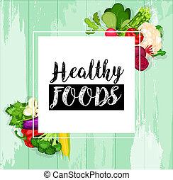 alimento, saúde, fundo