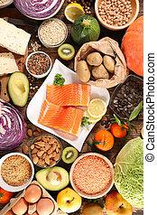 alimento, salud, composición