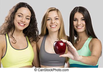 alimento sano, ejercicio