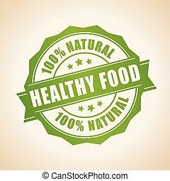 alimento sano, estampilla