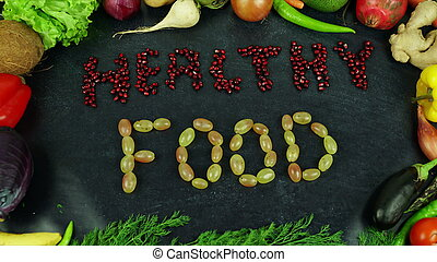 alimento sano, fruta, movimiento parada