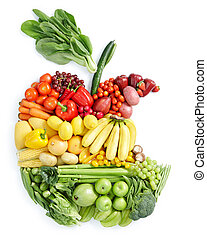 alimento sano, manzana, bite: