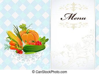 alimento sano, receta, tarjeta