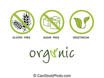 alimento sano, símbolos