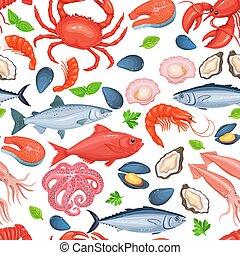 alimento sano, seamless, pattern.