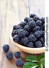 alimento saudável, amora, fruta