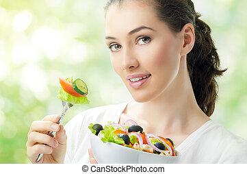 alimento saudável, comer