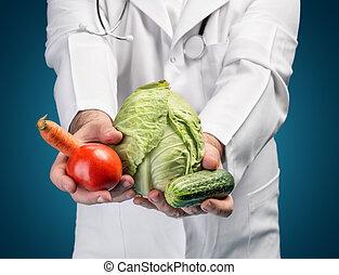 alimento saudável, concept.
