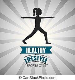 alimento saudável, desporto, estilo vida