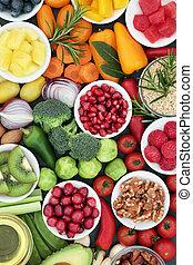 alimento saudável, estilo vida