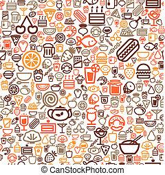 alimento, seamless, fundo