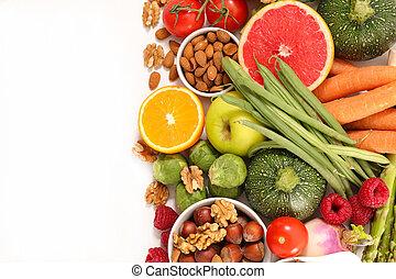 alimento, seleção, saúde