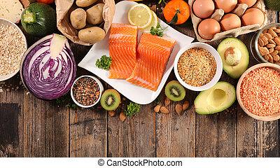 alimento, selección, salud