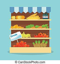 alimento, supermercado, cobrança