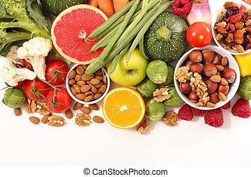 alimento, surtido, salud