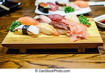 alimento, sushi