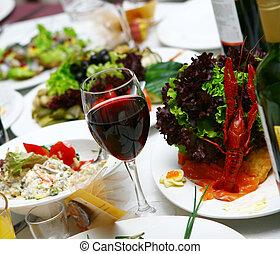 alimento, tabela, gostoso, fresco