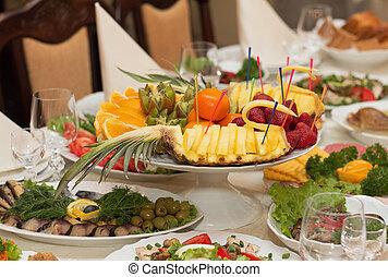 alimento, tabla, banquete,  beautifully