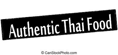alimento, tailandés, auténtico