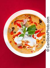 alimento, tailandês, gostosa