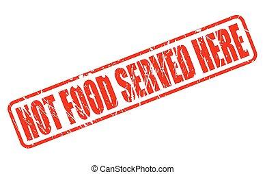 alimento, texto, aquí, estampilla, caliente, servido, rojo