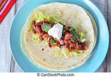 alimento, tortilla, mexicano