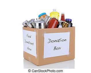 alimento, unidad, caja