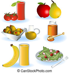 alimento, vegetariano, 2