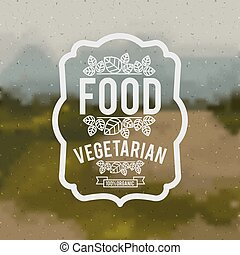alimento, vegetariano, desenho