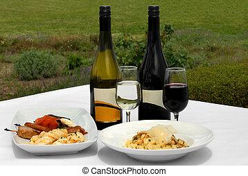 alimento, &, vinho