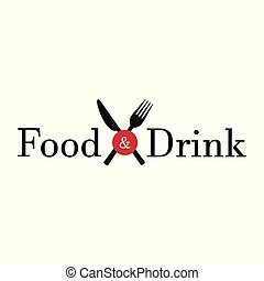 alimento y bebida, fondo blanco