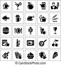 alimento y bebida, iconos