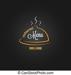 alimento y bebida, menú, diseño, plano de fondo