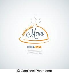 alimento y bebida, menú restaurante, vector, plano de fondo