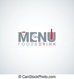 alimento y bebida, menú, vino, placa, vector, plano de fondo