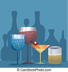 alimento y bebida, plano de fondo