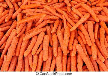 alimento, zanahoria, -, maduro, plano de fondo