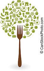 alimentos, árbol