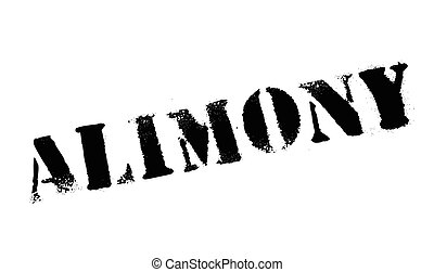 Alimony rubber stamp. Grunge design with dust scratches....
