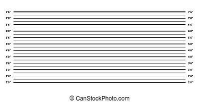 alineación de la policía, plano de fondo, en, negro y blanco