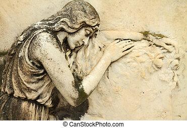 alivio, ángel, sueño
