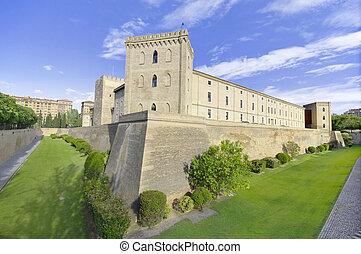 Aljafereia palace in Zaragoza, Spain