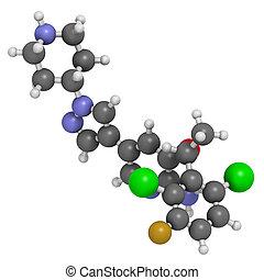 alk, molecule., anti-cancer, droga, inhibitor, ros1,...