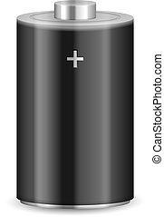 Alkaline battery on a white background. Vector illustration.