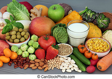 Alkaline Healthy Food Selection