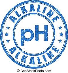 Alkaline ph balance stamp - Alkaline ph balance vector stamp