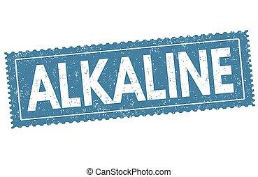 Alkaline sign or stamp