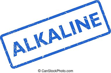 Alkaline vector stamp - Alkaline vector rectangle stamp