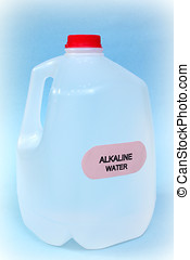 alkaline water - one gallon of alkaline water isolated on...