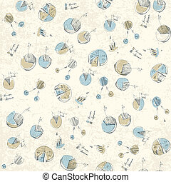 alkalmaz, elements., lehet, pattern., seamless, hand-drawn, infographic